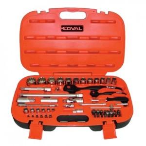 Komplet kluczy nasadowych Spline 55 el. Coval